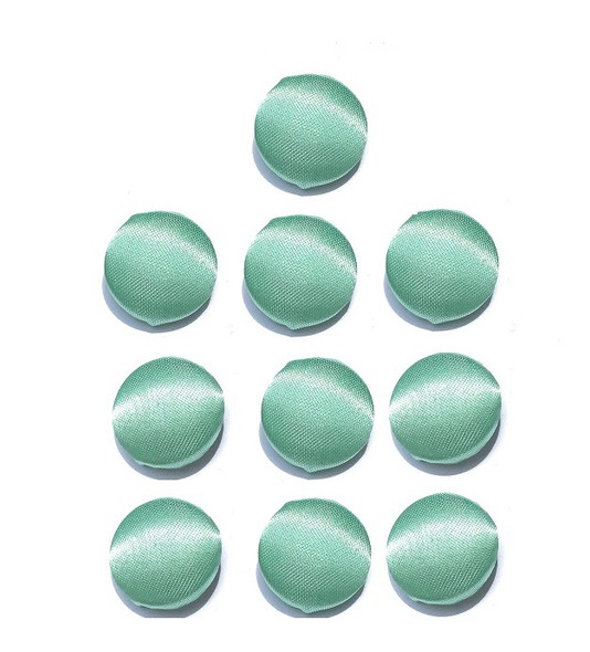 "Mint Green Satin Buttons in 3/4"", 19mm, 30L"