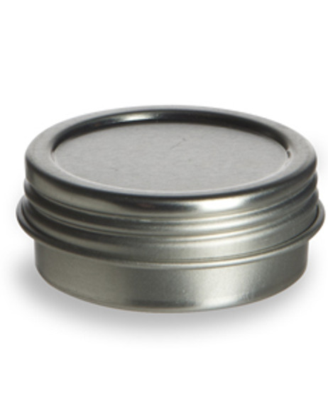 2 oz Round Tin Container with Screw on Lid
