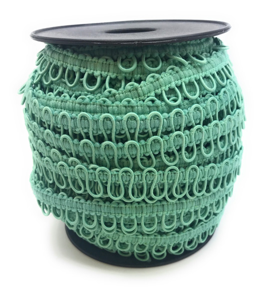 Sea Green Adjacent Elastic Bridal Button Loops