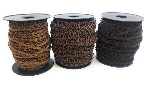 Nakpunar Caramel Brown, Chocolate Brown and Dark Brown Adjacent Elastic Bridal Loops