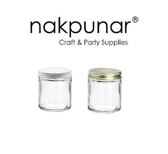2 oz Straight Side Glass Jar with your lid choice - 48/400 Lid