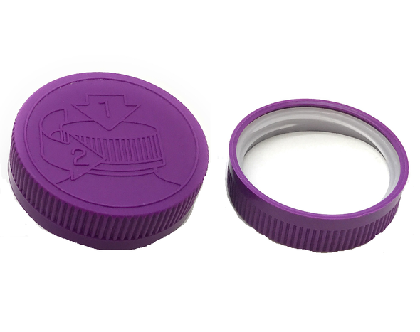 38/400 Lavender Child Resistant Cap- HEAT SEAL LINER