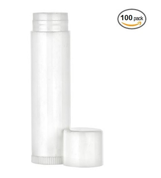White 0.15 oz empty lip balm tubes