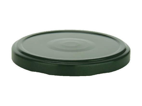 82TW Hunter Green metal lids with plastisol liner for glass jars