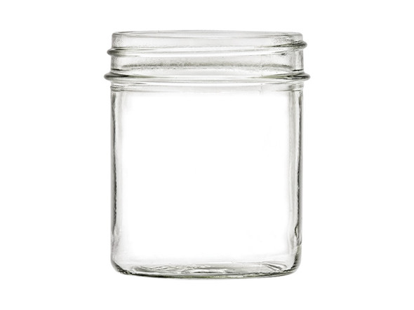 8 oz Straight Sided Mason Glass Jar with your choice of lid - Made in USA