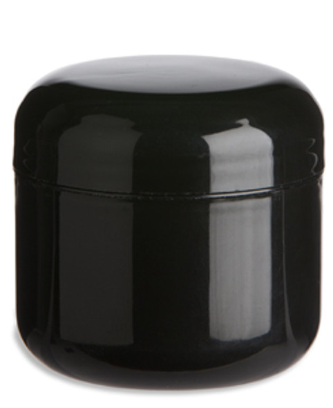 8 oz Black Double Wall Plastic Jar