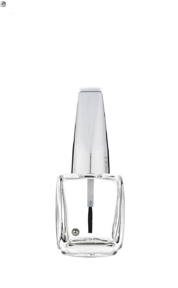 Nakpunar 12 ml 0.4 fl oz oval nail polish bottle with brush, mixing ball with metallic shiny silver caps