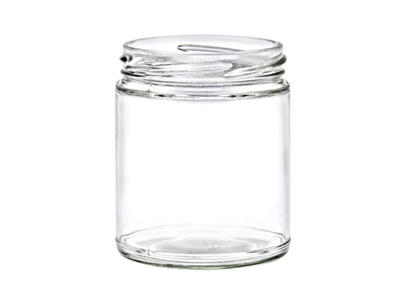 6 oz Straight Sided Jar with Lid - 200 ml 63TW Lug