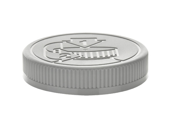 Regular Mouth 70/400 Gray Silver Child Resistant Cap- HEAT SEAL LINER