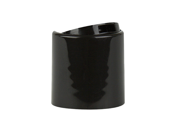 24/410 Black Shiny Disc Top Dispensing Cap