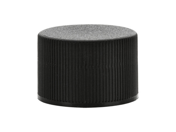 24/410 Black Ribbed Edge Cap with F-217 Foam Liner