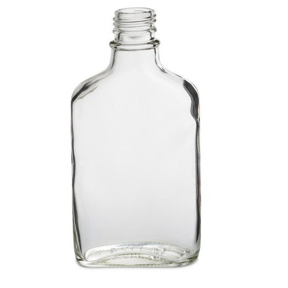 Nakpunar 200 ml 6.6 fl oz Glass Flask Bottle with tamper evident cap