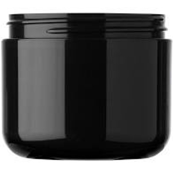 4 oz Black Double Wall Plastic Jar with Lid