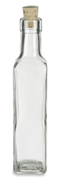 8 oz Marasca Glass Bottle with Natural Cork, Glass or T-Bar Stopper (250 ml)