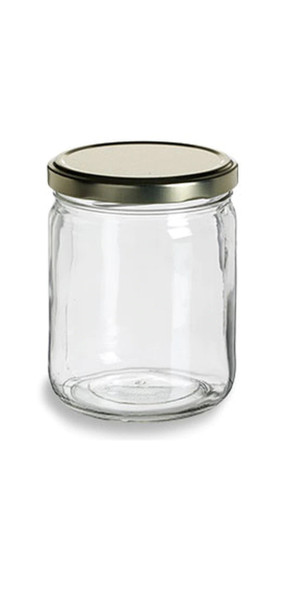 16 fl oz Glass Salsa Jar with Lid - 355ml - Made in USA