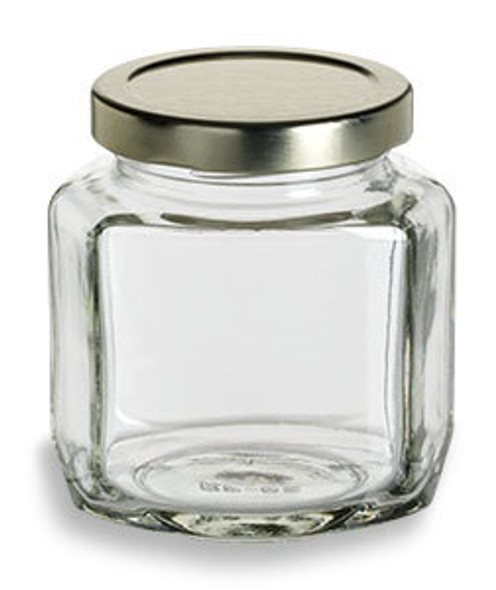 6 oz Oval Hexagon Glass Jars