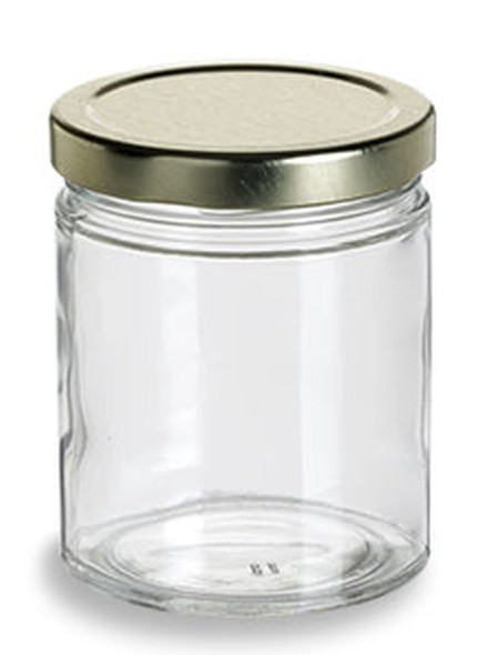 3 oz Straight Sided Jar with Lid - 90 ml 58TW Lug
