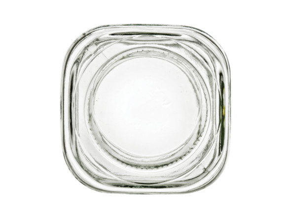 16 oz Square Glass Jar with Lid