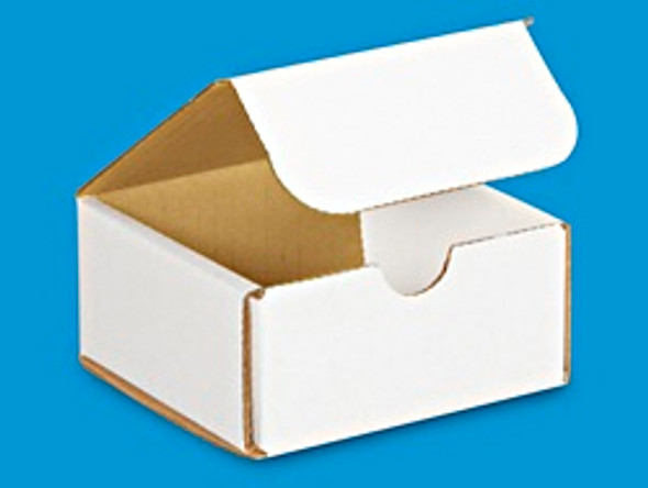 BBX MAWH 0404 02 - Packaging Box Mailer  White 4x4x2