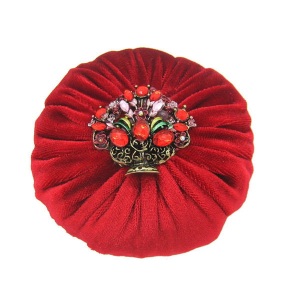 "4"" Red Emery Pincushion / Pin Cushion for sale - Filled with 1 lb abrasive powder"