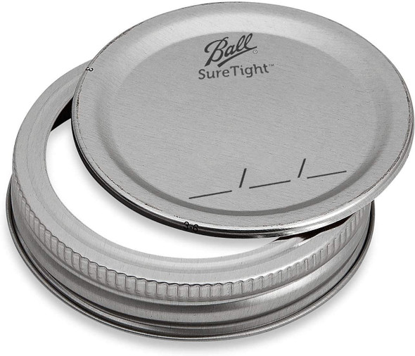12 pcs Ball Regular Mouth Jar Lids - Disc Lids and Ring Bands