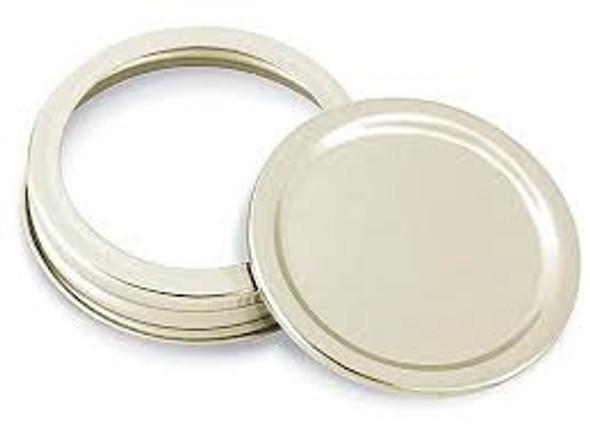 12 pcs Gold Color Regular Mouth Jar Lids - Disc Lids and Ring Bands