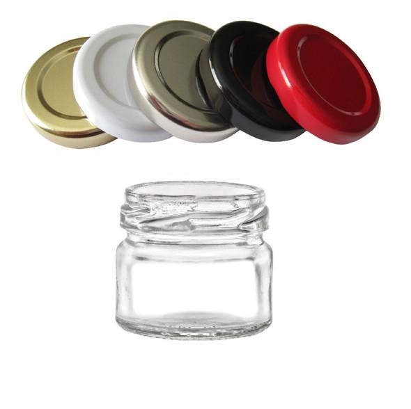 1 fl oz Mini Glass Jar with Lug Lid (30ml)