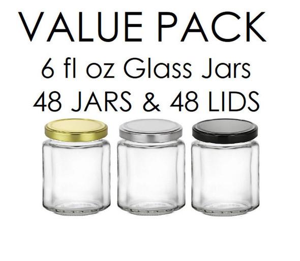6 oz Straight sided glass jars