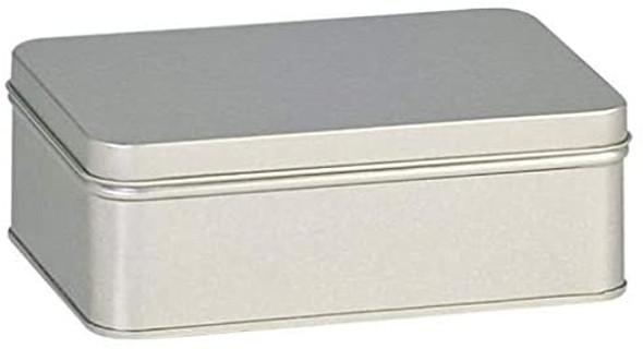 Rectangular Tea Tin with Solid Slip on Lid - 16 fl oz