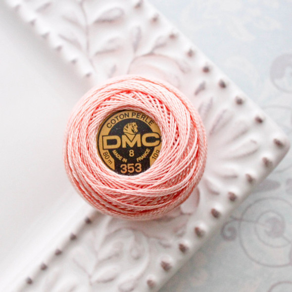 DMC 353 - Peach Pink - Perle Cotton DMC Thread Size 8