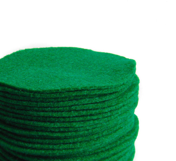 Kelly Green Felt Circles