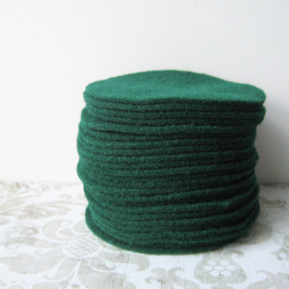 Hunter Green Felt Circles