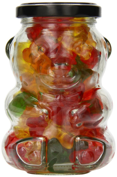 Glass Bear Jar with Gummy Bear