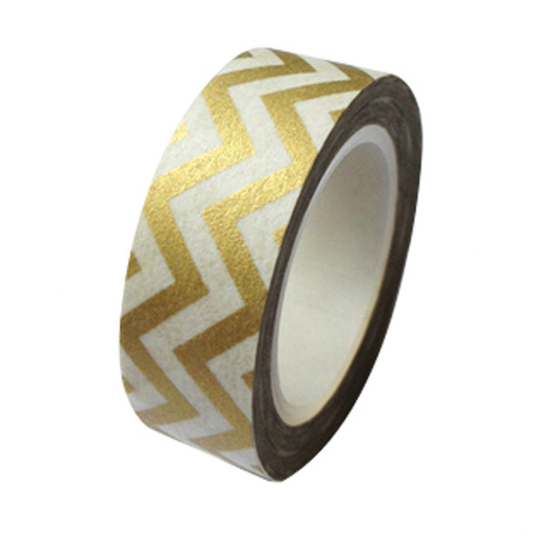 Golden Chevron Washi Tape - 15 m