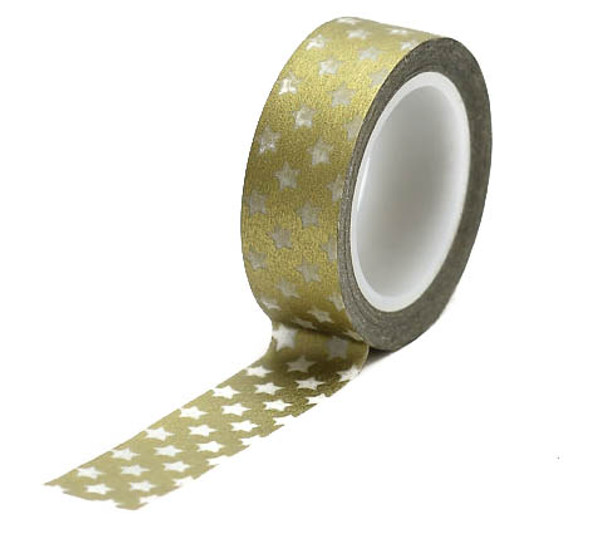 Golden Star Washi Tape - 15 m