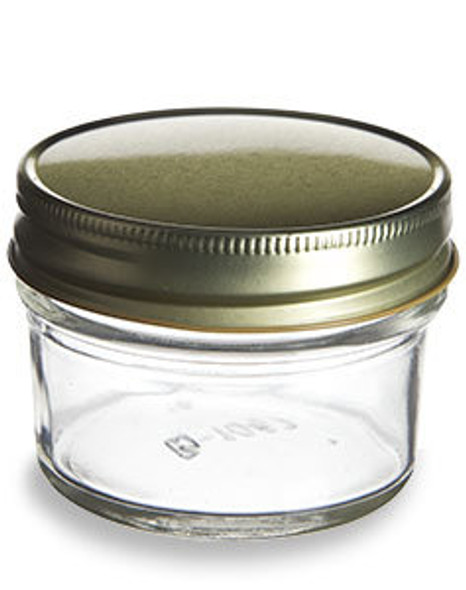 4 oz mason jar with gold lid