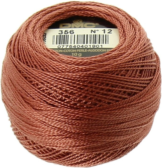 DMC  Perle Cotton Thread Ball | Size 12 | 356 Md Terra Cotta