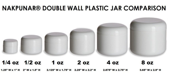 Plastic jars with lids for sale.