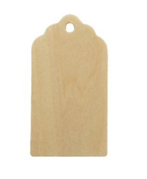 Fancy curvy wood  tags ornament craftparts cutout unfinished