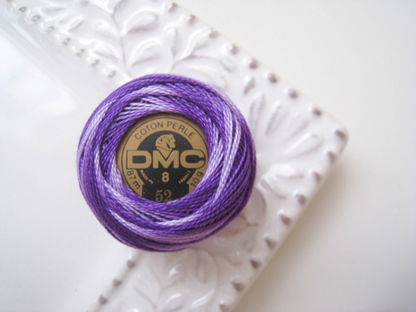 DMC 52 Variegated Violet Pearl Cotton DMC Thread Ball - Size 8