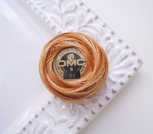 DMC Pearl Cotton DMC Thread Balls Size 8 - 61 Variegated Earthtone