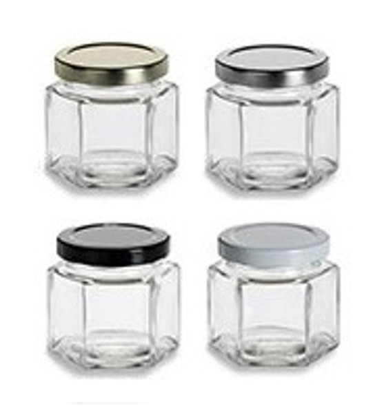 Nakpunar 4 oz Hexagon Jars wit Lids