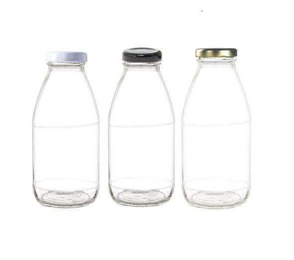 10 oz Milk Bottle with TW twist off lug lid