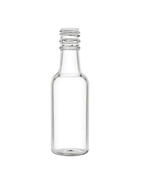 1.7 oz ( 50 ml) mini Plastic Liquor Bottle with choice of color cap