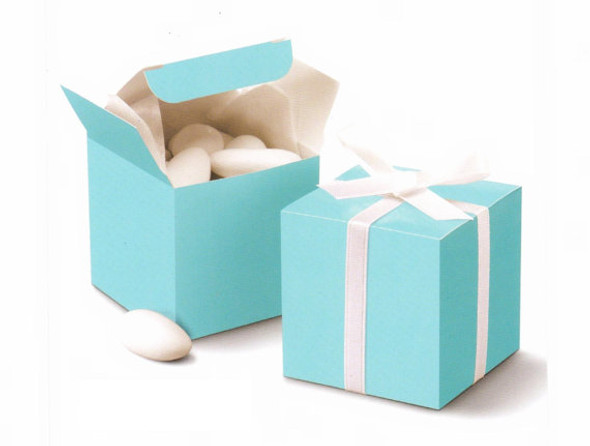 "Nakpunar Robin Egg Blue Favor Boxes  2""x2""x2"""