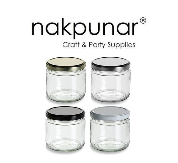 12 fl oz Glass Salsa Jar with Lid - 355ml