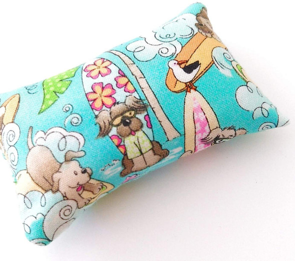 Abrasive sewing pincushion with cute cartoon animal dog print
