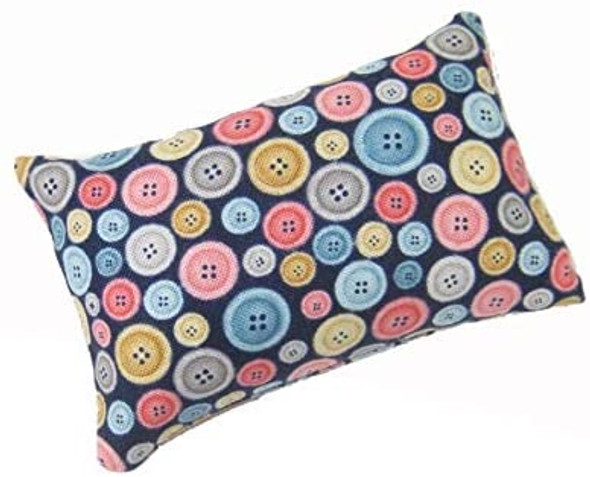 Abrasive Emery Mineral filled pincushion with colorful buttons