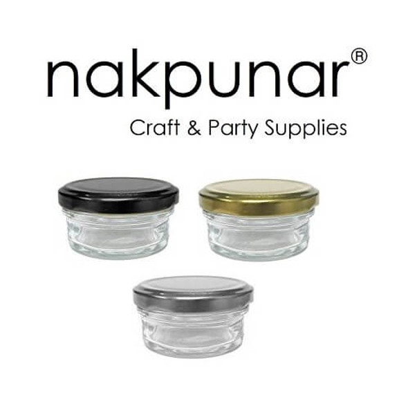 60 ml 2 oz Mini Mason Caviar Glass Jar with Lid by Nakpunar