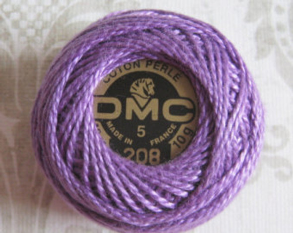 DMC Size 5 Perle Cotton Thread | 208 Very Dark Lavender
